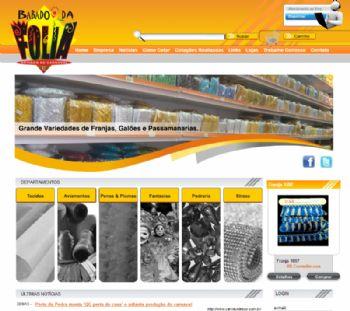 Página inicial do site.