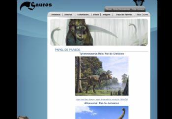 Página do segmento dos dinosauros.