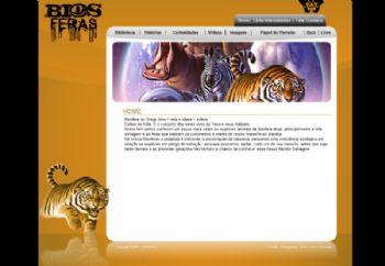 Página do segmento dos animais pré-históricos.