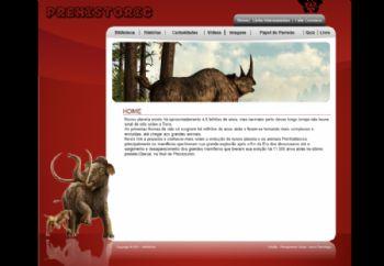 Página do segmento dos animais selvagens.