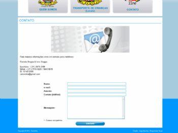 Exemplo de página de contato.