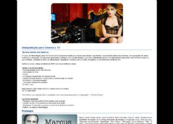 Página de detalhes do workshop.