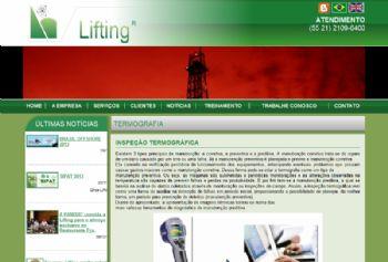 Exemplo de página de detalhes do serviço.