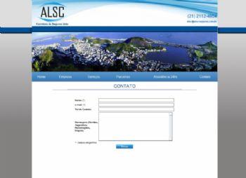 Exemplo de página de contato com formulário automatizado para envio de mensagem.
