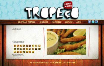 Página de exibição de fotos dos pratos, com atalhos em thumbnails.