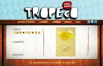Página de exibição de fotos dos drinks, com atalhos em thumbnails.