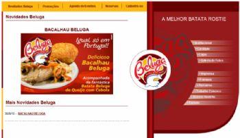 Exemplo de página com notícias sobre promoções, entre outros itens.
