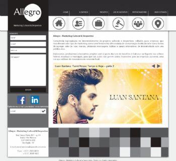 Exemplo da página inicial.