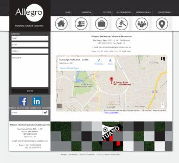 Exemplo de contato com mapa do Google.