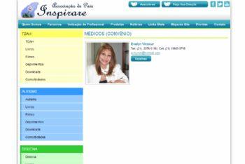 Exemplo de página de listagem de profissionais.