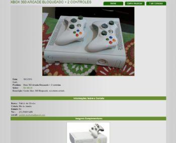Exemplo de página de detalhes do anúncio.
