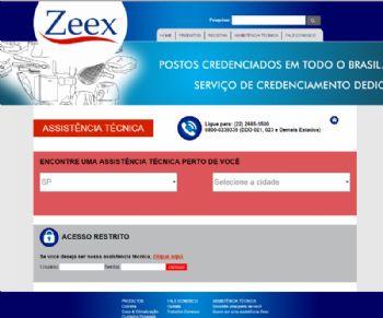 Página para exibição da assistência técnica em cada região do país.