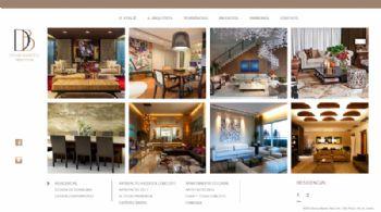 Exemplo de página de listagem de projetos no portfólio.