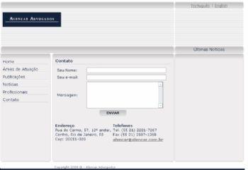 Formulário de contato.
