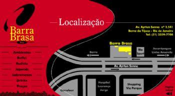 Tela de mapa de localização.