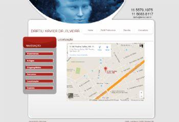 Página com o mapa de localização.