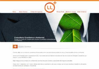 Exemplo da página institucional.