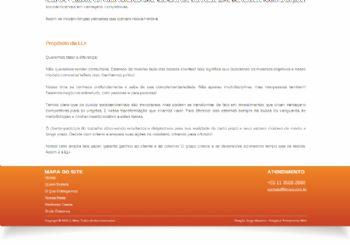 Continuação do exemplo da página institucional.
