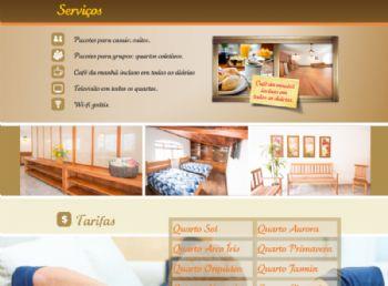 Exemplo da página de serviços.