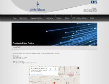 Exemplo da página de contato, com google maps.