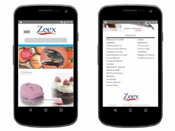 Página inicial da versão mobile.