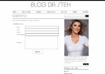 Exemplo de página de contato com formulário de envio.