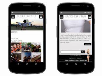Exemplo da home da versão mobile.