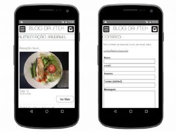 Exemplo da páginas internas da versão mobile.