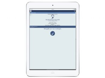 Tela de conclusão de avaliação - versão ipad.