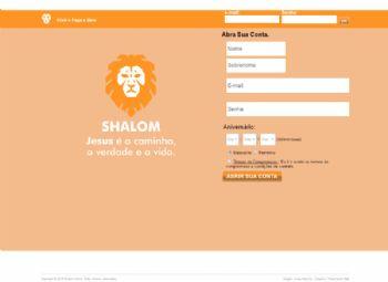 Página de entrada do portal.