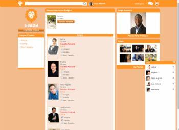 Exemplo de página de busca e gerenciamento de usuários vinculados.