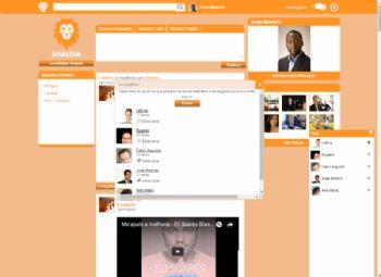 Exemplo do mecanismo de compartilhamento de postagem com usuários vinculados.