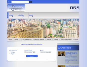 Exemplo da página inicial com área de busca simplificada.