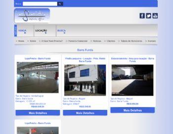 Exemplo de página de listagem dos imóveis.