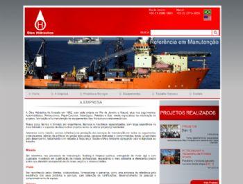 Exemplo da página de conteúdo institucional.