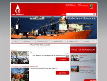 Exemplo da página de listagem de projetos realizados.