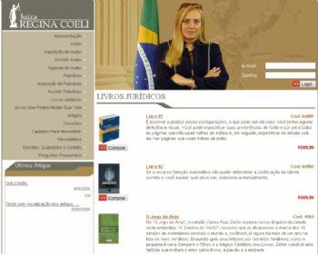 Tela de listagem dos livros indicados.