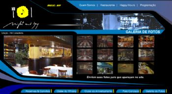 Exemplo de tela de galeria de fotos.