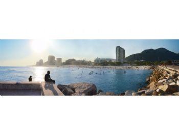 Praia da Barra - vista do deck.