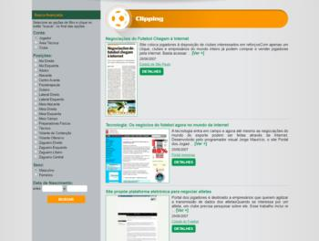 Exemplo de página de clipping.