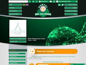 Exemplo de página de dashboard.