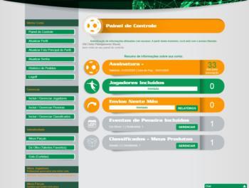 Continuação do exemplo de página de dashboard.
