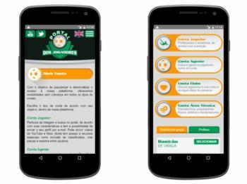 Versão mobile - exemplo da página de escolha de plano.