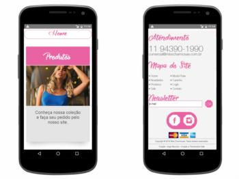 Continuação de exemplo da página inicial - versão mobile.
