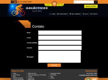 Exemplo do formulário de contato.
