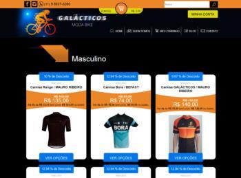 Exemplo da página de listagem de produtos.