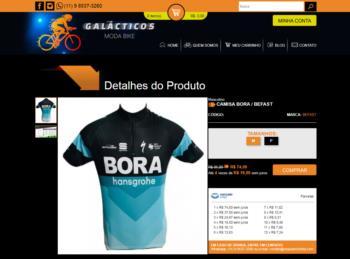 Exemplo da página de detalhes dos produtos.