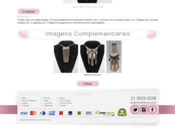 Continuação da página de detalhes dos produtos.