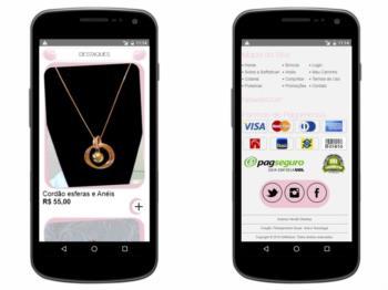 Continuação do exemplo da página inicial - versão mobile.