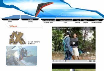 Exemplo de tela de vídeos.